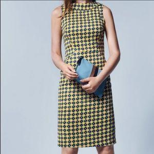 Boden Martha Dress English Mustard High Collar